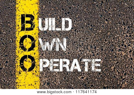 Business Acronym Boo Build, Own, Operate