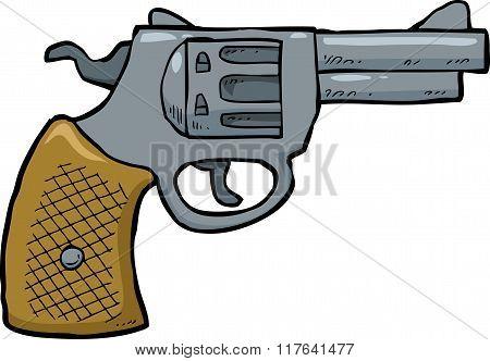 Cartoon Revolver Gun