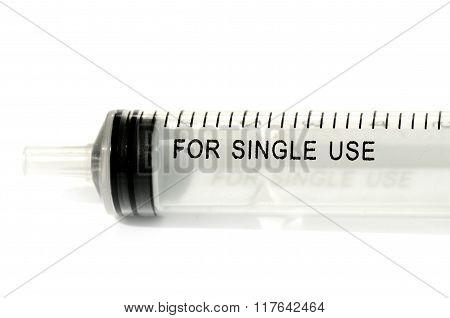 Medical Sterile Single Use Syringe Graded Isolated On White