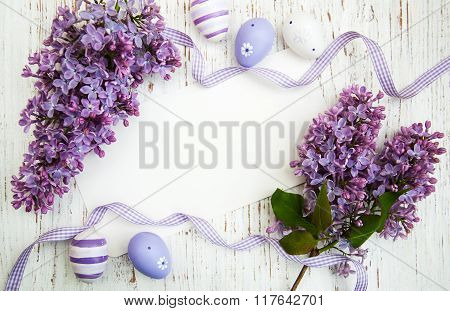 Easter Card With Lilac Flowers