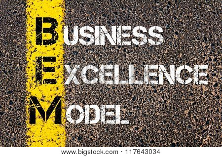 Business Acronym Bem Business Excellence Model