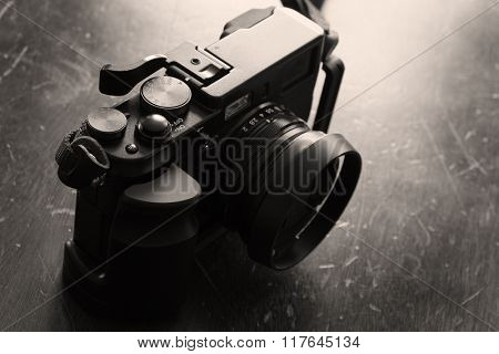 Detail of vintage old Camera for photography creativity