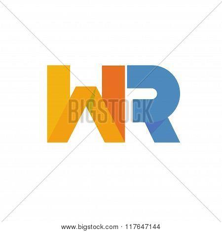 letter WR logo