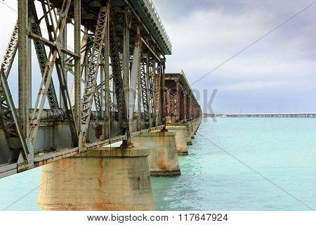 Abandoned Bridge Over Water