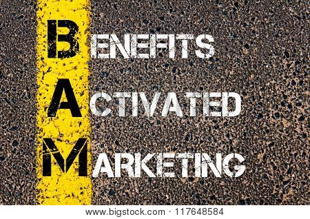 Business Acronym Bam Benefits Activated Marketing
