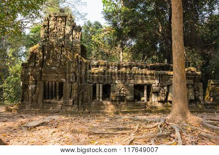 Ta Prohm Temple At Angkor Wat Complex