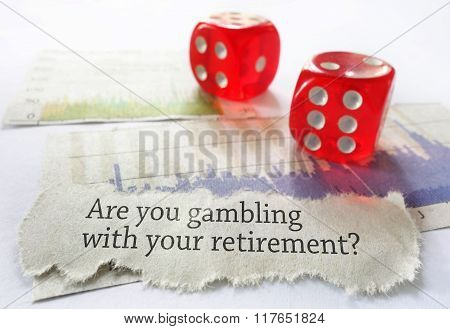 Retirement Risk Concept