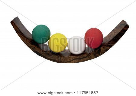 Easter Colorful Eggs Isolated On White
