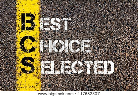 Business Acronym Bcs Best Choice Selected