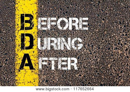 Business Acronym Bda Before, During, And After