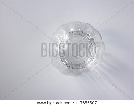top view of empty glass container