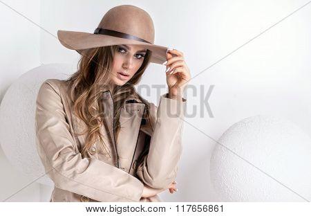 Fashionable Sexy Woman Posing.