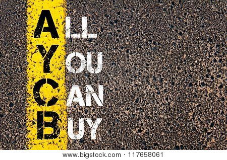 Business Acronym Aycb All You Can Buy
