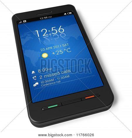 Smartphone con pantalla táctil