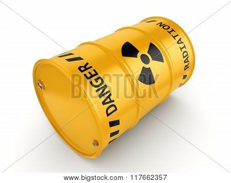 Yellow Radioactive Barrel