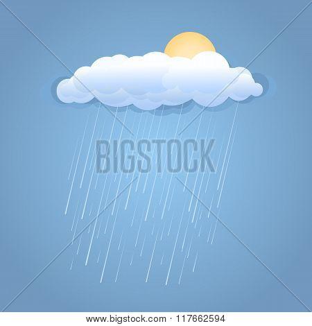 Rain Summer Cloud With Sun