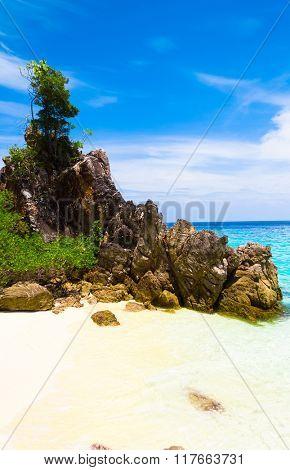 Idyllic Island Lagoon View