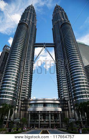 The Petronas Twin Towers, Skyscrapers In Kuala Lumpur, Malaysia