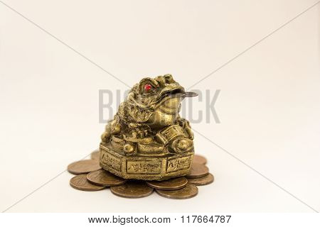 Symbol Toad On A White Background Feng Shui