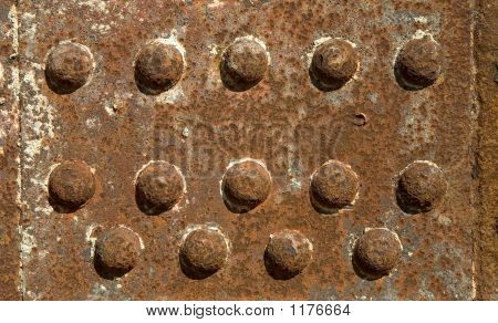 Iron Girder With Rivets