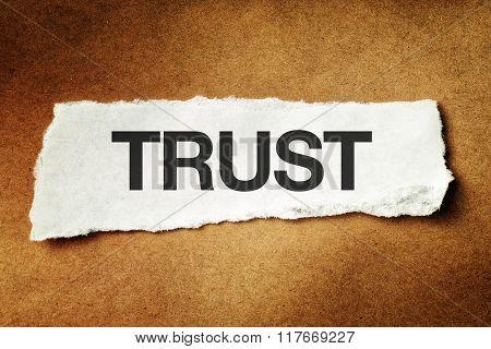 Trust Printed On Scrap Paper