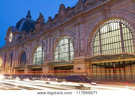 The Orsay Museum In Evening, Paris, France.