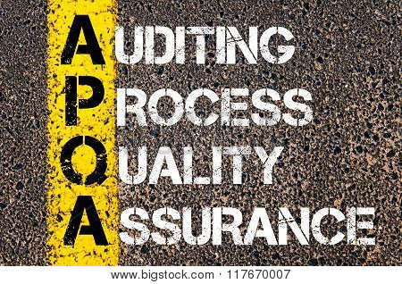 Business Acronym Apqa Auditing Process Quality Assurance