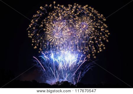 Large fireworks display