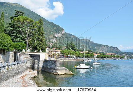 Lenno town at the famous Italian lake Como