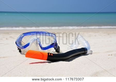 Snorkeling set on the beach