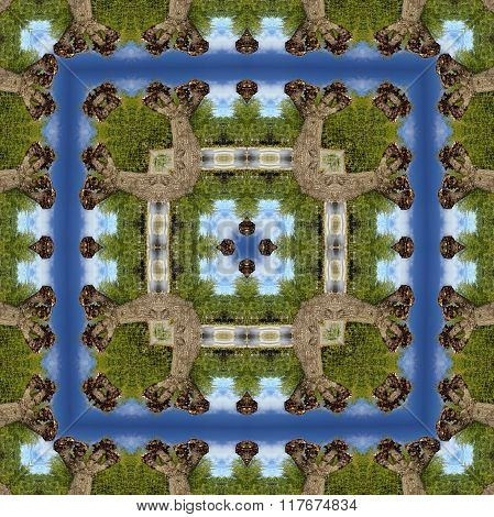 Computer Seamless Abstract Game Environment Or Background Map For Building Village, City Or Farm. Re