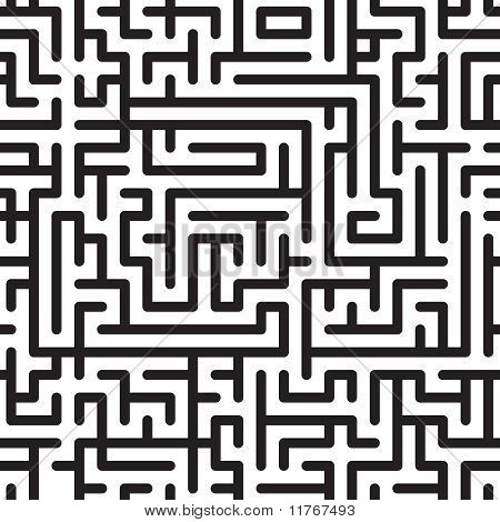 Black-and-white Abstract Background With Complex Maze
