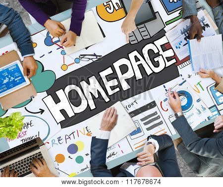 Homepage Internet Network Digital Web Website Concept