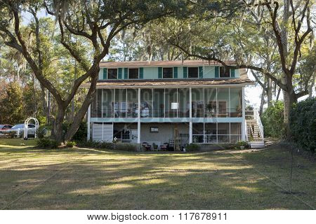 Large home with beautiful wooded back yard