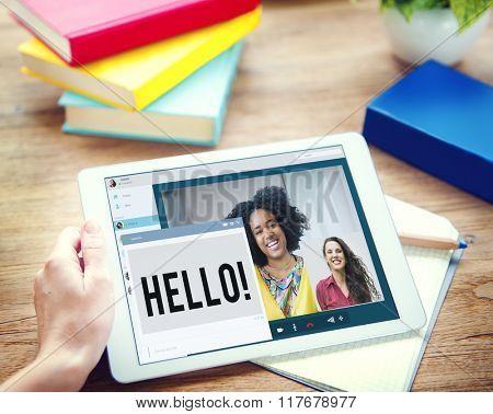 Hi Hello Language Message Greeting Concept