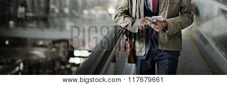 Man Travel City Transportation Concept