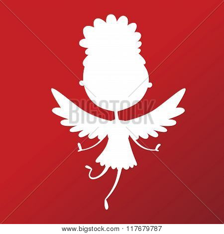 Valentine Day cupid angel cartoon style vector illustration