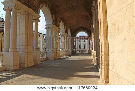 Arches Of The Palladian Basilica The Great Public Monument Of The City Of Vicenza