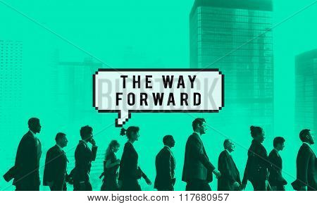 The Way Forward Aim Ahead Vision Target Success Concept