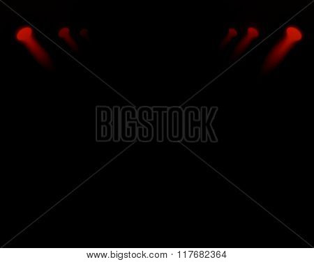 spotlights on a dark background, abstract