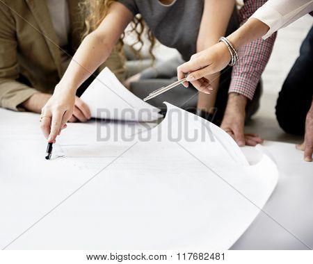 Designer Thinking Ideas Creative Layout Concept