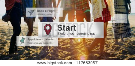 Start Beginning Launch Starting Ready Forward Concept