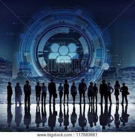 Technology Team People Hud Teamwork Concept