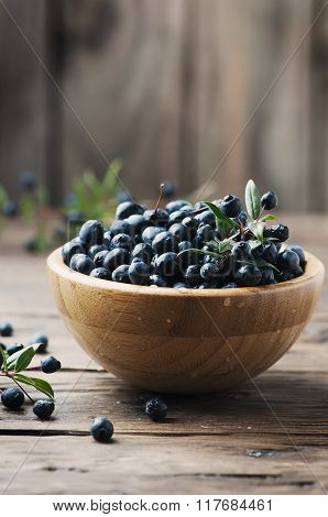 Myrtle Berry On The Wooden Table