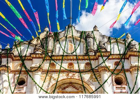 Church & Festive Bunting, Guatemala