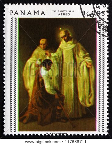 Postage Stamp Panama 1967 St. Bernard And St. Robert, By Goya