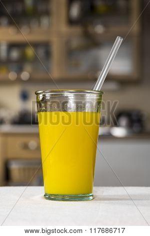 Glass Of Fresh Orange Juice