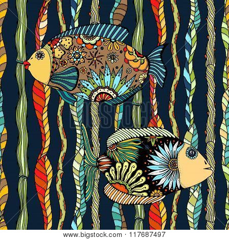 Background Of Abstract Fish