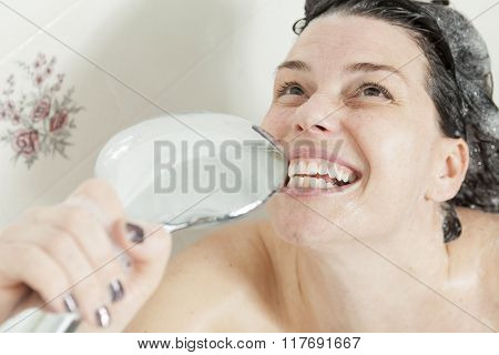 Shower woman