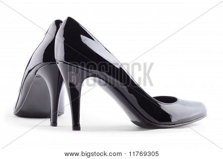 High-heeled Shoes Isolated On White Background